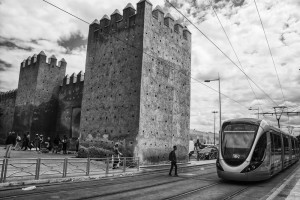 Fast and High Speed Tram in Rabat, Morocco