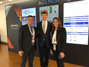 MTDS' Adil Bikarbass with Sophos CEO Kris Hagerman at Sophos Discover network security event in Lisbon, Portugal