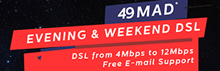 MTDS launches its Evening and Weekend ADSL Package from 49DH per month!